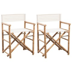 Bamboo Directors Chairs Santa For Rent Vidaxl Co Uk Folding Director 39s Chair And