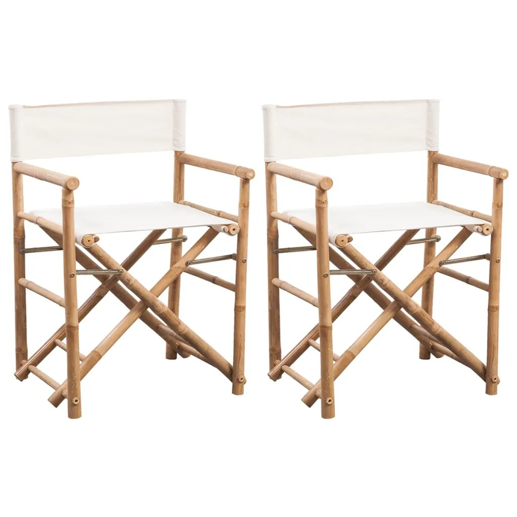 Directors Chair Canvas Vidaxl Co Uk Vidaxl Folding Director 39s Chair Bamboo And