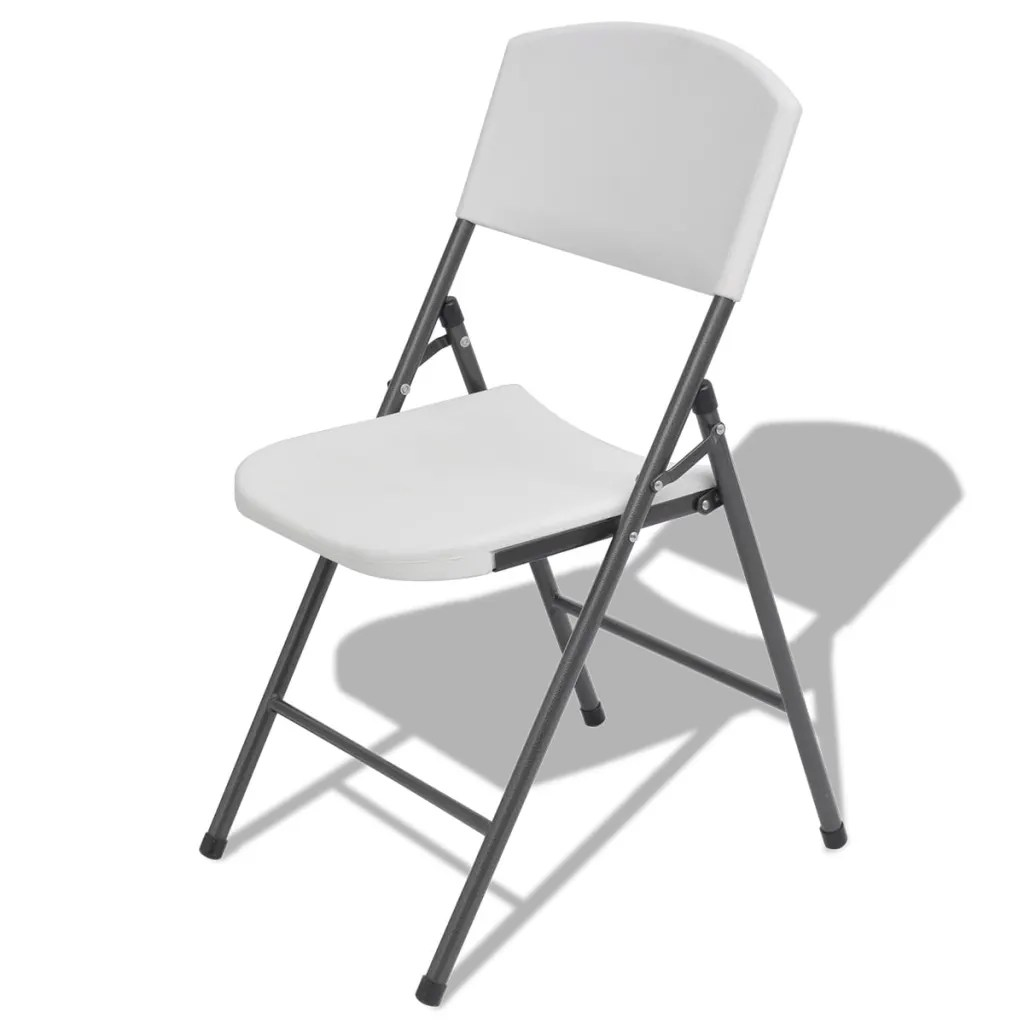 folding visitor chair brown office guest chairs 4 pcs plastic metal frame reception
