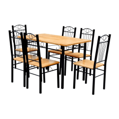 Table And 6 Chairs Munchkin Potty Chair Vidaxl Co Uk Dining Light Wood