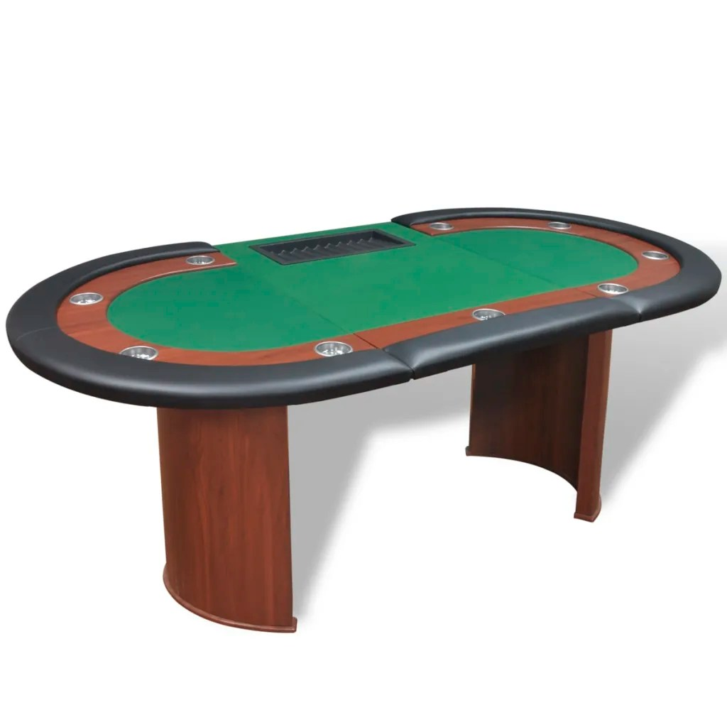 vidaXLcouk  10Player Poker Table with Dealer Area and