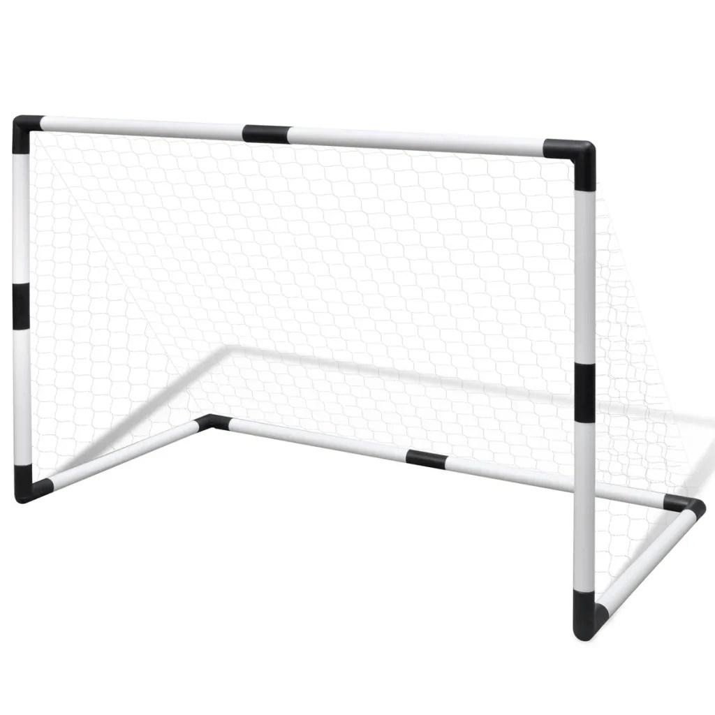 Mini baliza de futebol, com rede, 2 peças, para crianças