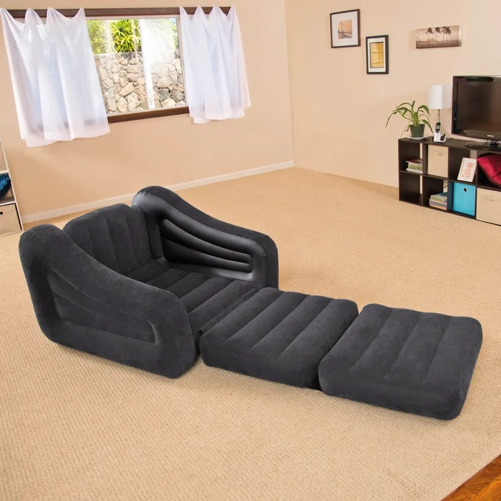intex inflatable chairs mint chair sashes vidaxl co uk bed 107 x 221 66