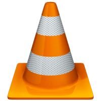 Large Orange VLC media player Traffic Cone Logo