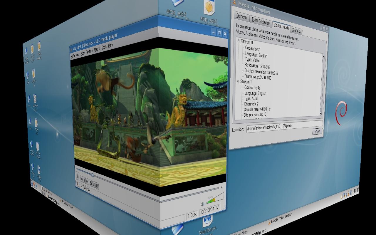 VLC en Linux. Clic para ampliar