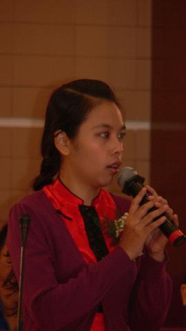 Đảng viên Lê Như Ngọc Mai: Muốn xây dựng thế hệ thanh niên mới, phải bắt đầu từ xây dựng đội ngũ thầy cô. Ảnh: CTV