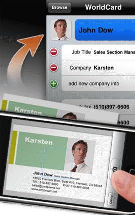 Scan namecard là một tính năng hữu dụng trên di động (Ảnh:  iusethis).