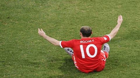 Chân sút số 1 của M.U mùa giải trước Rooney đã  có một kỳ World Cup đáng thất vọng. Ảnh: Getty