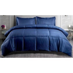 Kathy Ireland Damask Stripe Down Alternative Comforter Set