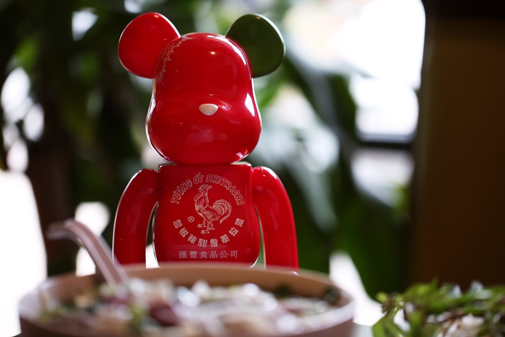 Vinyl Pulse BAIT x Medicom x Huy Fong Foods x Sket One 100 and 400 BerBrick Set at SDCC
