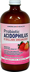 "Probioitic Acidophilus Liquid Strawberry <p>Contains a natural balance of specially selected strains of acidophilic cultures</p><p>Each serving provides over 20 billion ""friendly"" organisms for intestinal health◊**</p><p>Nutritionally supports healthy digestion**</p><p>Helps maintain a favorable environment for the absorption of nutrients**</p><p>Contributes to healthy immune function**</p><p class=""disclaime"