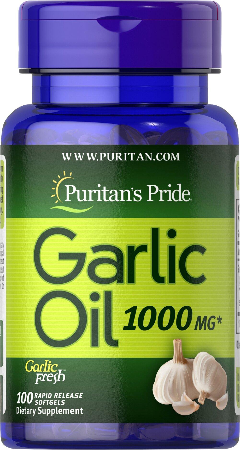 Garlic Oil 1000 mg 100 Rapid Release Softgels | Food ...