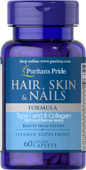 Hair, Skin & Nails Formula <p>A wide array of vitamins, minerals and herbal extracts including Niacin and Biotin that support the health and beauty of your hair, skin and nails**</p> 60 Caplets  $11.99