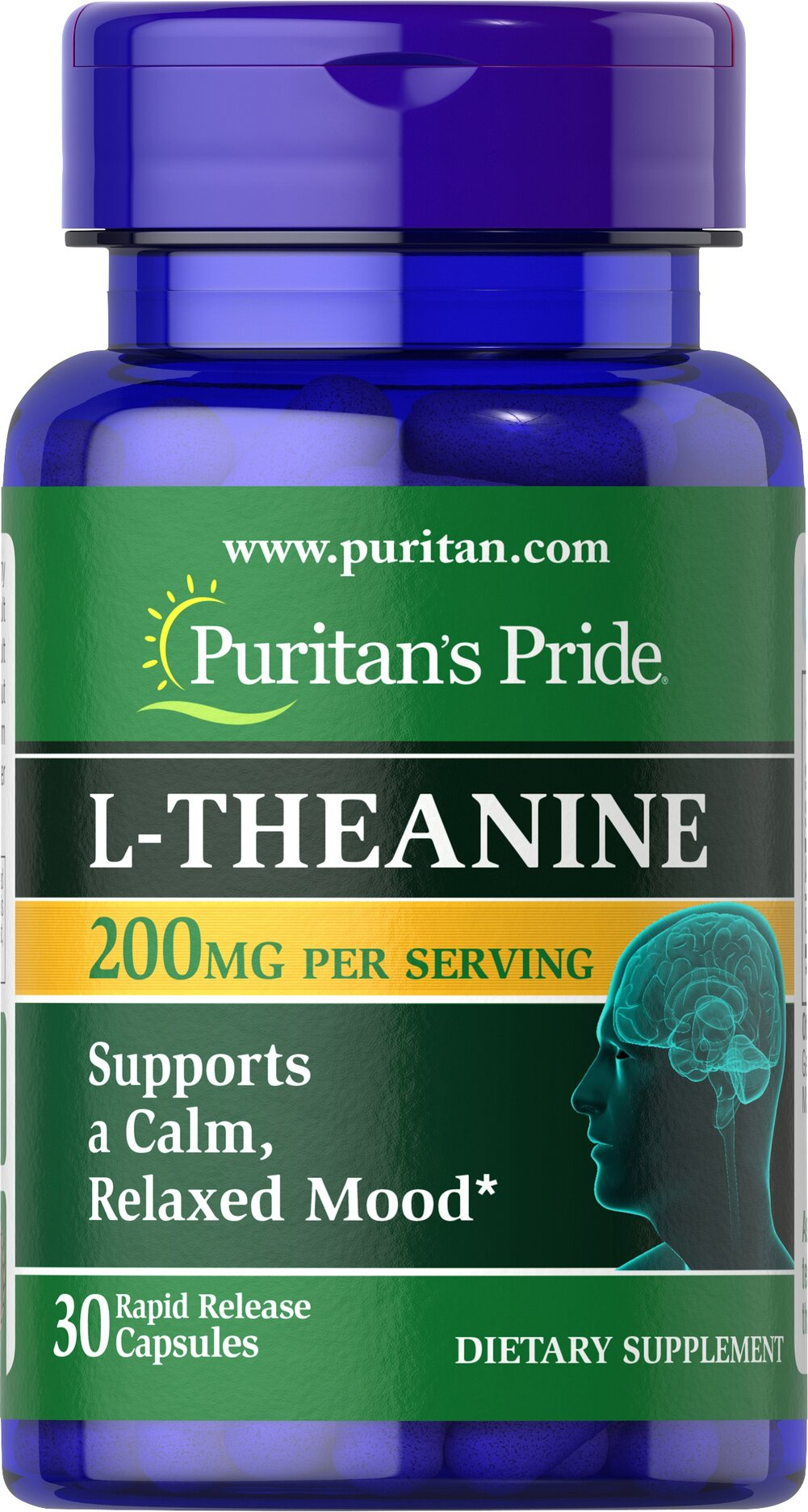 L-Theanine 200 mg 30 Capsules | Mood Support Supplements ...