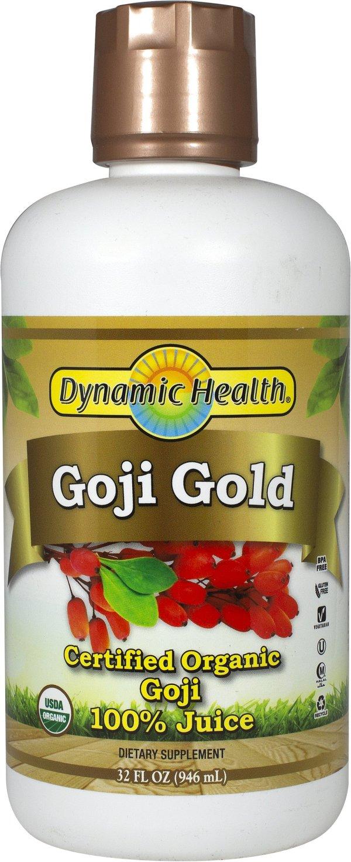 Organic Goji Gold 100 Pure Juice 32 Oz Liquid Herbal