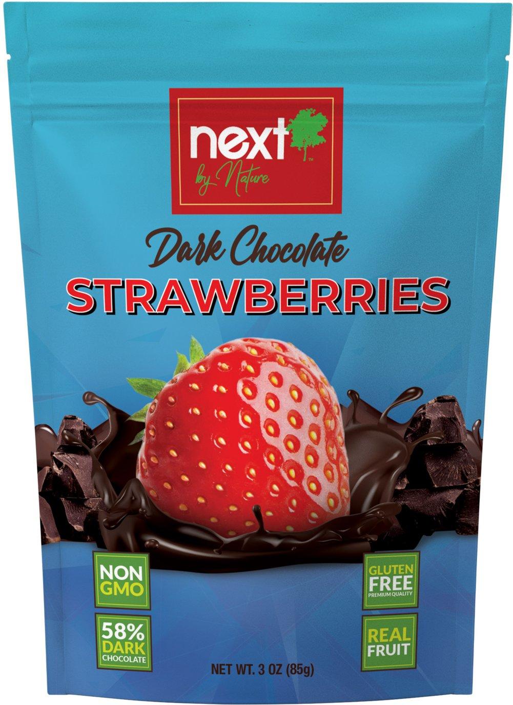 Dark Chocolate Strawberries  3 oz Bag  $5.99