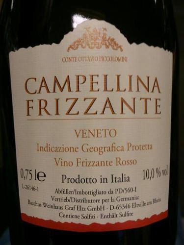 Conte Ottavio Piccolomini Campellina Frizzante Rosso NV