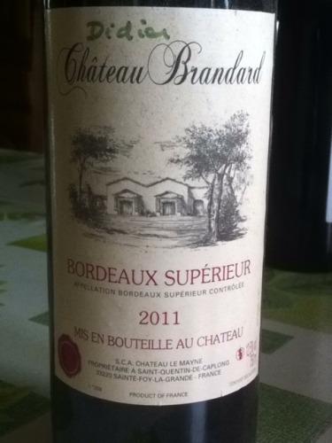 Chteau Brandard Bordeaux Suprieur 2011  Wine Info