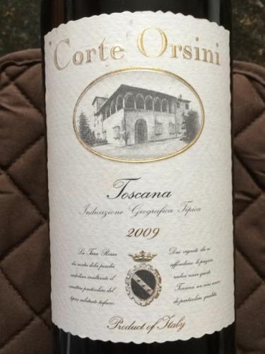 Corte Orsini Toscana 2009 Wine Info