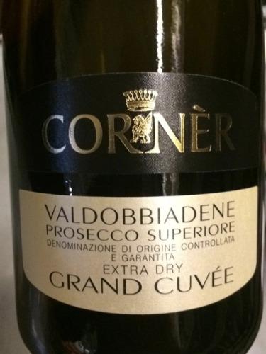 Corner Valdobbiadene Grand Cuve Superiore Prosecco  Wine