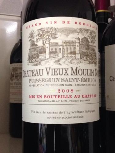 Chteau Vieux Moulin Noir Puisseguin Saintmilion 2008  Wine Info
