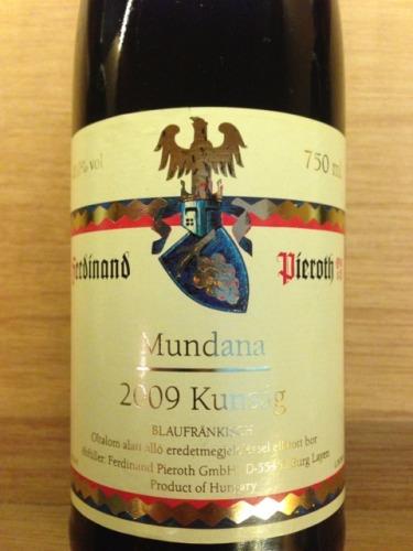 Pieroth Mundana Blaufrnkisch 2011 Wine Info
