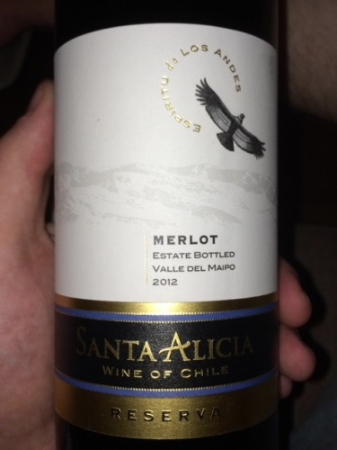Santa Alicia Merlot Reserva 2012  Wine Info