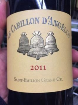 Image result for Le Carillon de L'Angelus Saint Emilion Grand Cru 2011