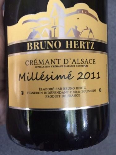 Bruno Hertz Cremant D Alsace Millesime Brut