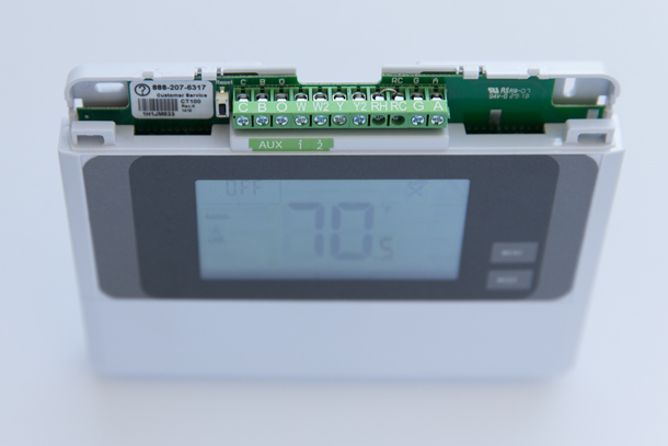 Adjust HVAC Settings Vivint Smart Thermostat