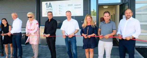 Eröffnung des KTM-Entwicklungszentrums in Rosenheim.