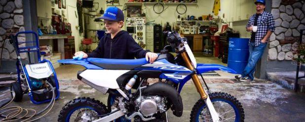 Da dürften Nachwuchsfahrer mit der Zunge schnalzen: die neue Yamaha YZ 65.
