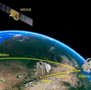 Quantenschlüsselaustausch zwischen Rechenzentren über Satelliten und Glasfaser