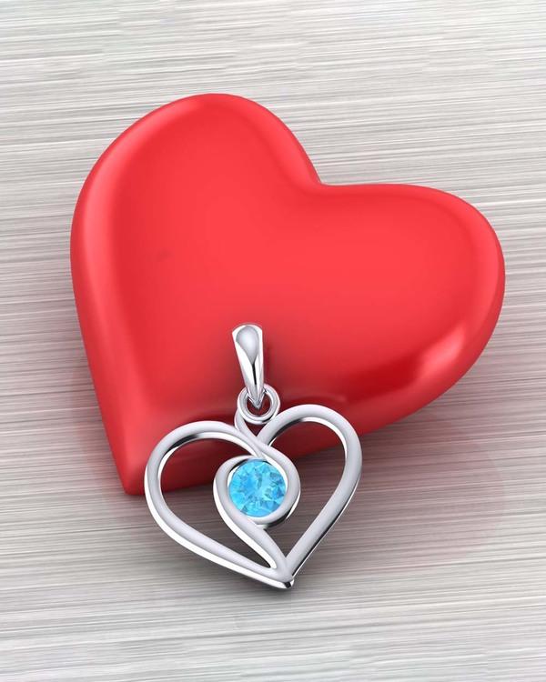lovely heart detailing pendant