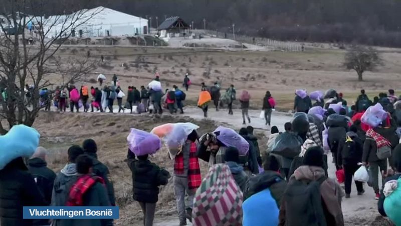 Hundreds of refugees back in burnt camp in Bosnia, government promises new tents | VRT NWS: news