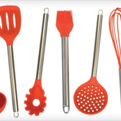 Kitchen Utensil Set Sink And Faucet 19 For A 7 Piece Silicone Wagjag Com
