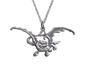 The Hobbit: The Desolation of Smaug Smaug Silver Necklace