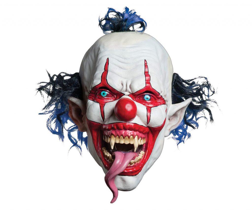 Snake Tongue Evil Clown Mask