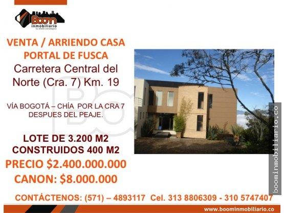 VENTA CASA PORTAL DE FUSCA 400 M2  Boom Inmobiliario SAS