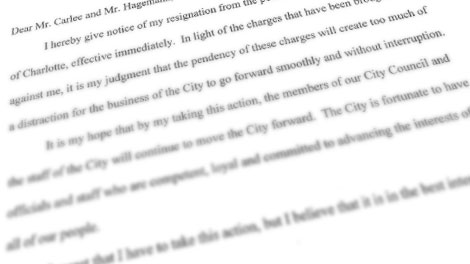 Charlotte Mayor Patrick Cannon Issues Resignation Letter