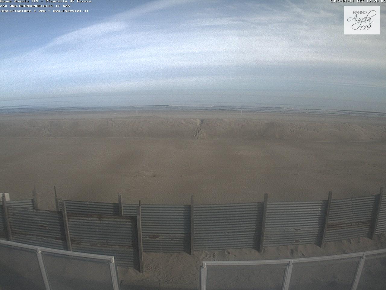 Webcam Pinarella di Cervia Spiaggia Bagno Angela