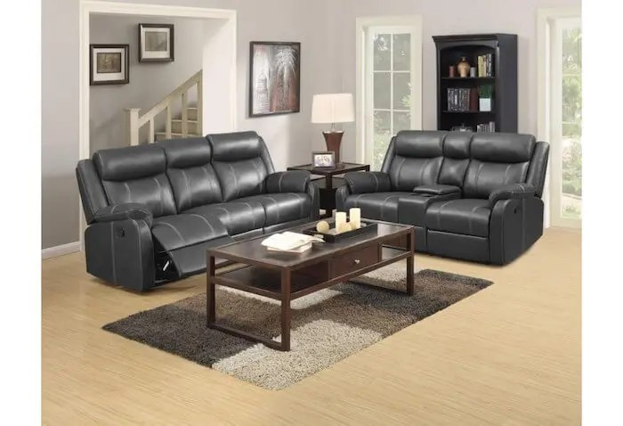 Dominorstvc In By Klaussner In South Williamsport Pa Domino Casual Reclining Sofa With Drop Down Table Valor Carbon