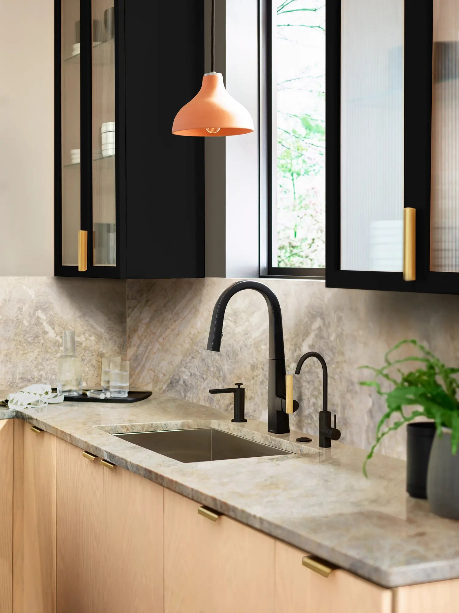nio matte black one handle high arc pulldown kitchen faucet