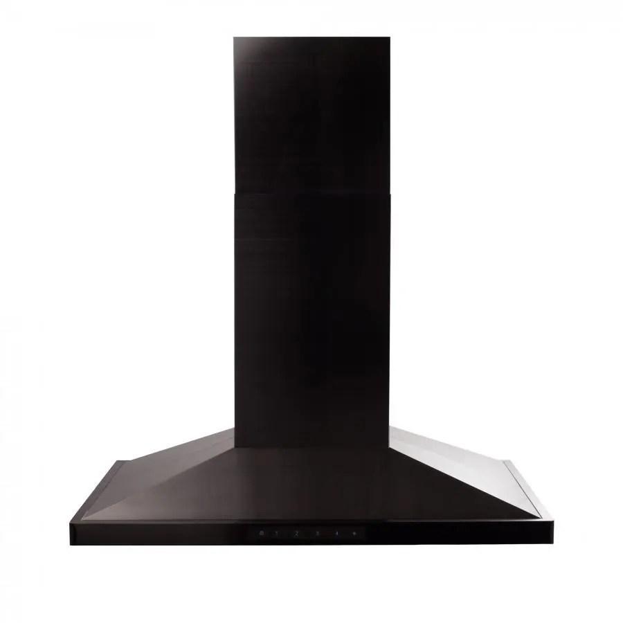 zline convertible vent island mount range hood in black stainless steel bsgl2in size 36 inch