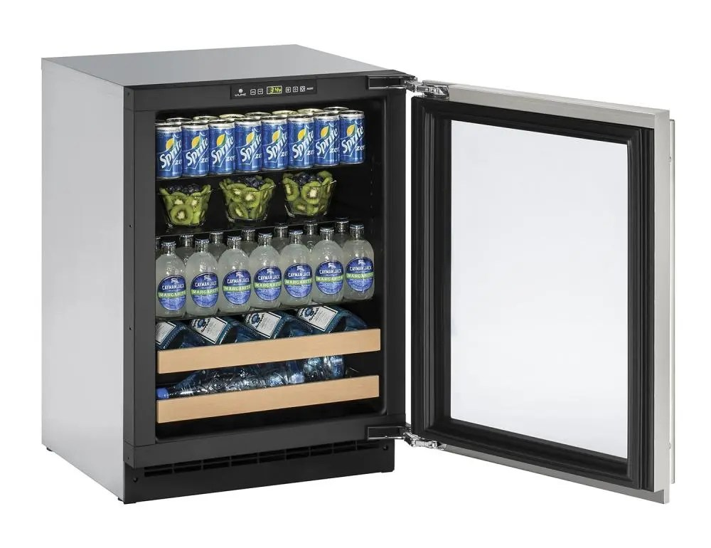 """24"""" Beverage Center Stainless Frame (Lock) Left-Hand Hinge"""