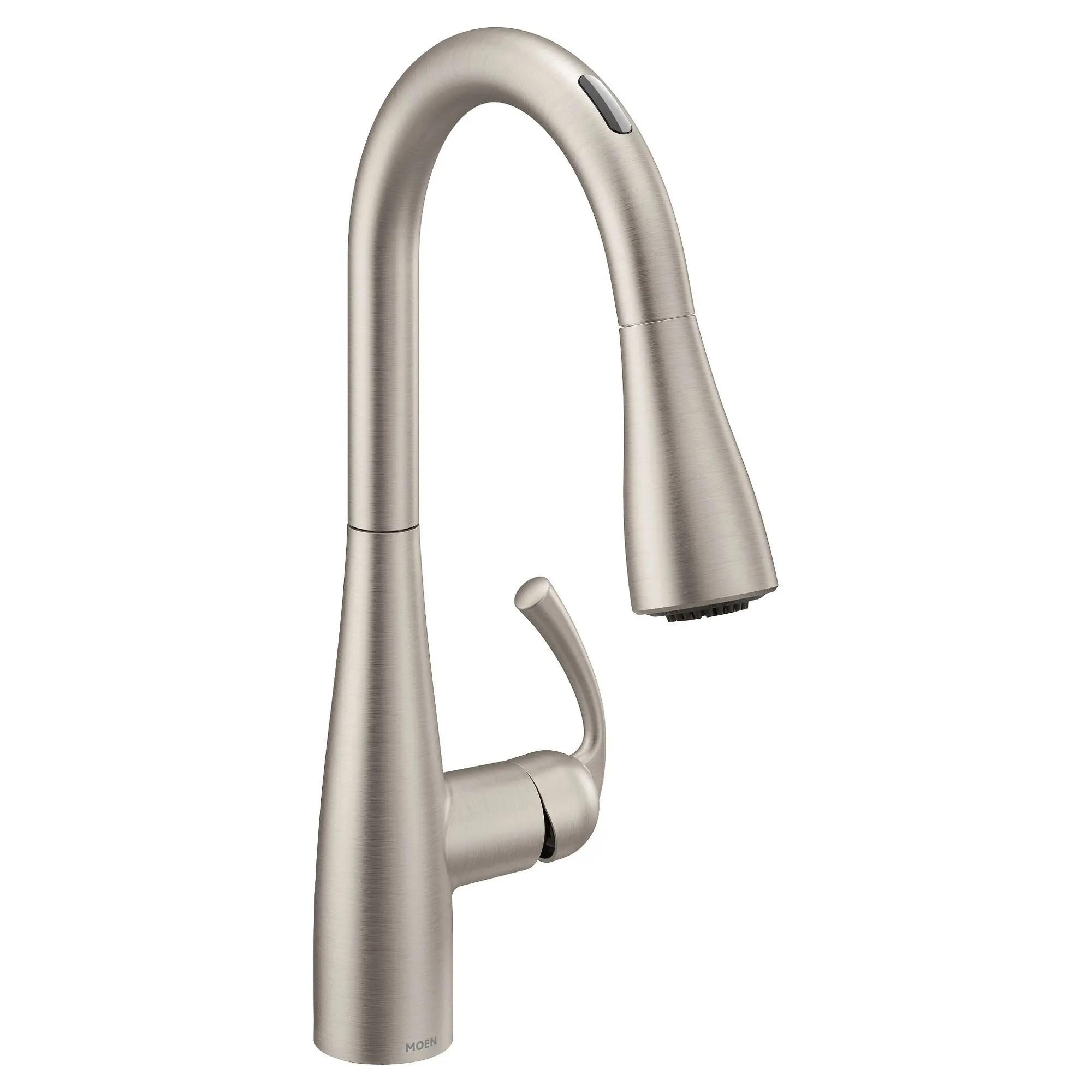 u by moen smart faucet in essie spot resist stainless