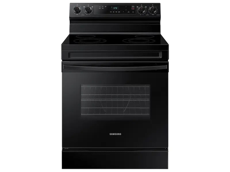 6.3 cu. ft. Smart Freestanding Electric Range with Steam Clean in Black