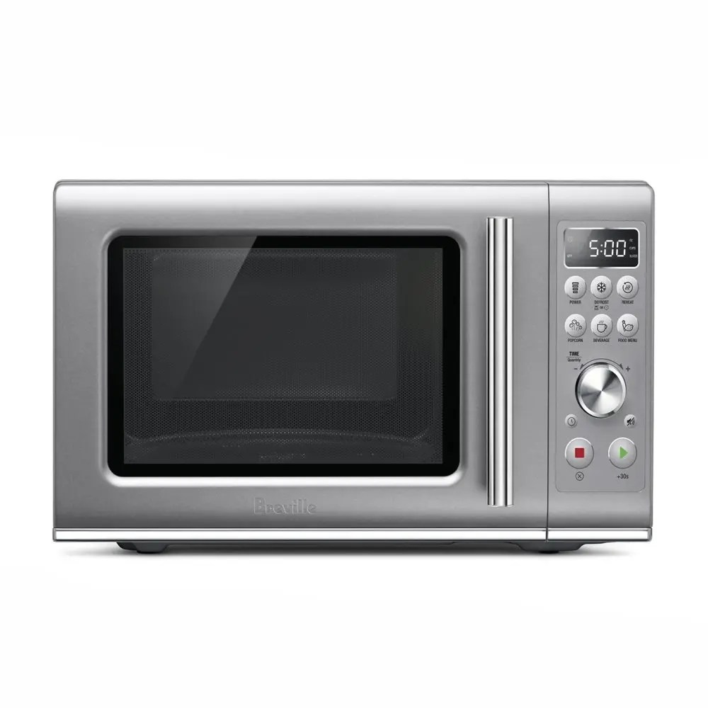 microwaves the compact wave soft close silver