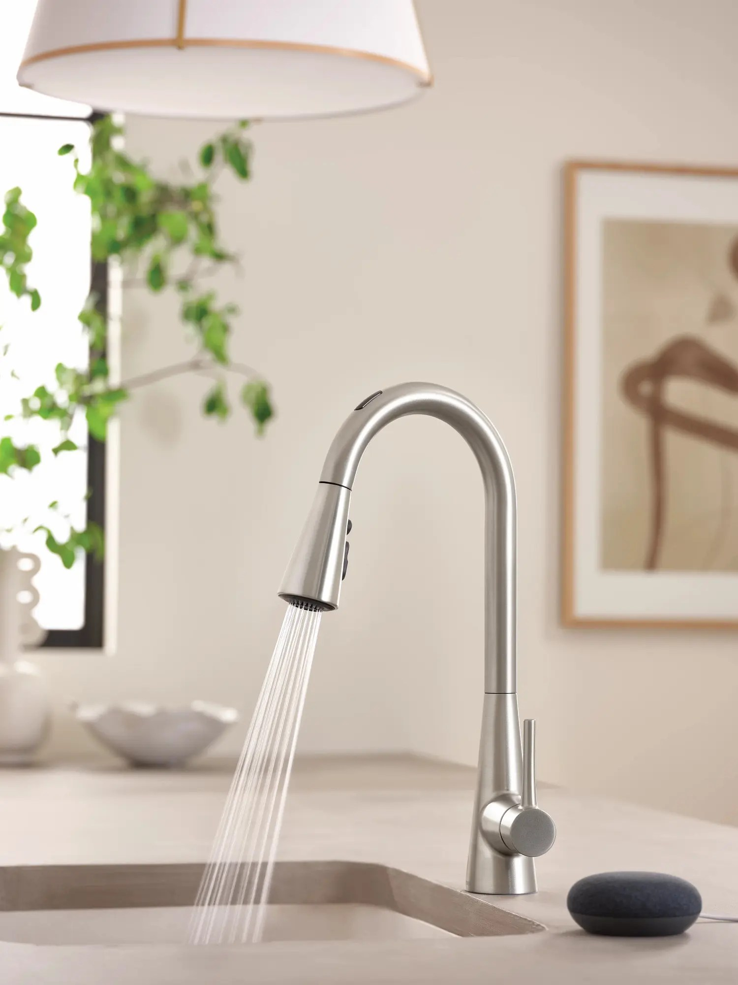 u by moen smart faucet in sarai spot resist stainless