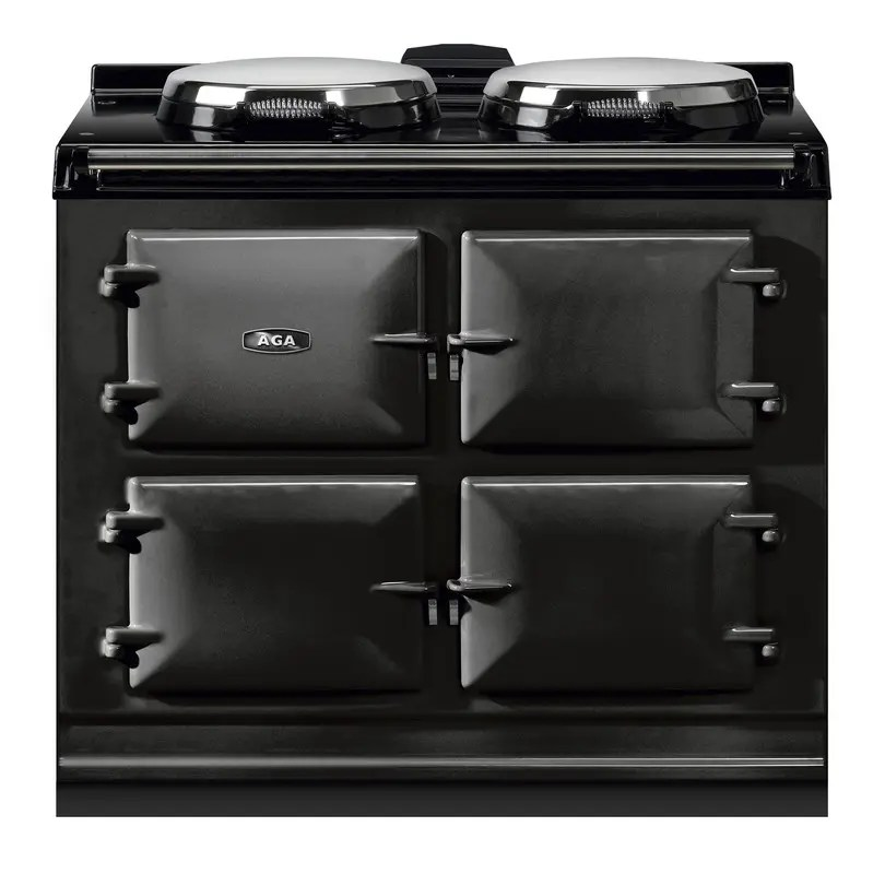 """Dual Control 39"""" Electric/Natural Gas Black with Stainless Steel trim"""